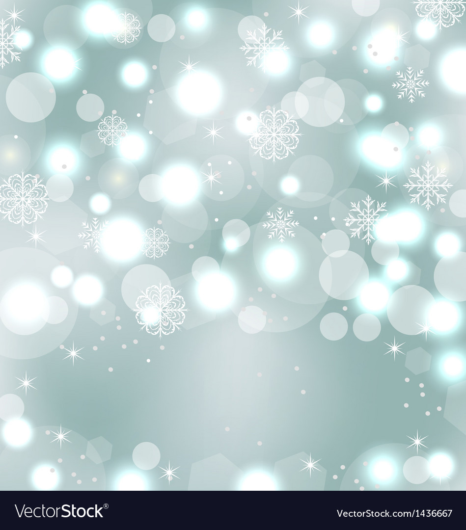 Christmas Cute Wallpaper With Sparkle Snowflakes