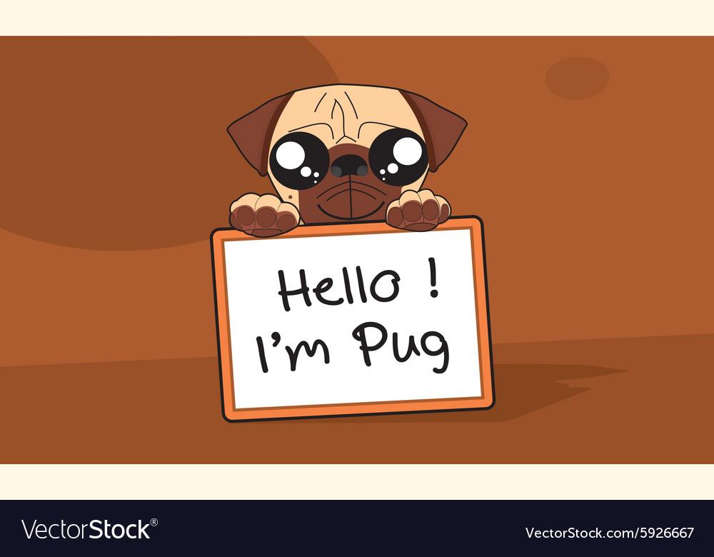 Im Pug Royalty Free Vector Image Vectorstock