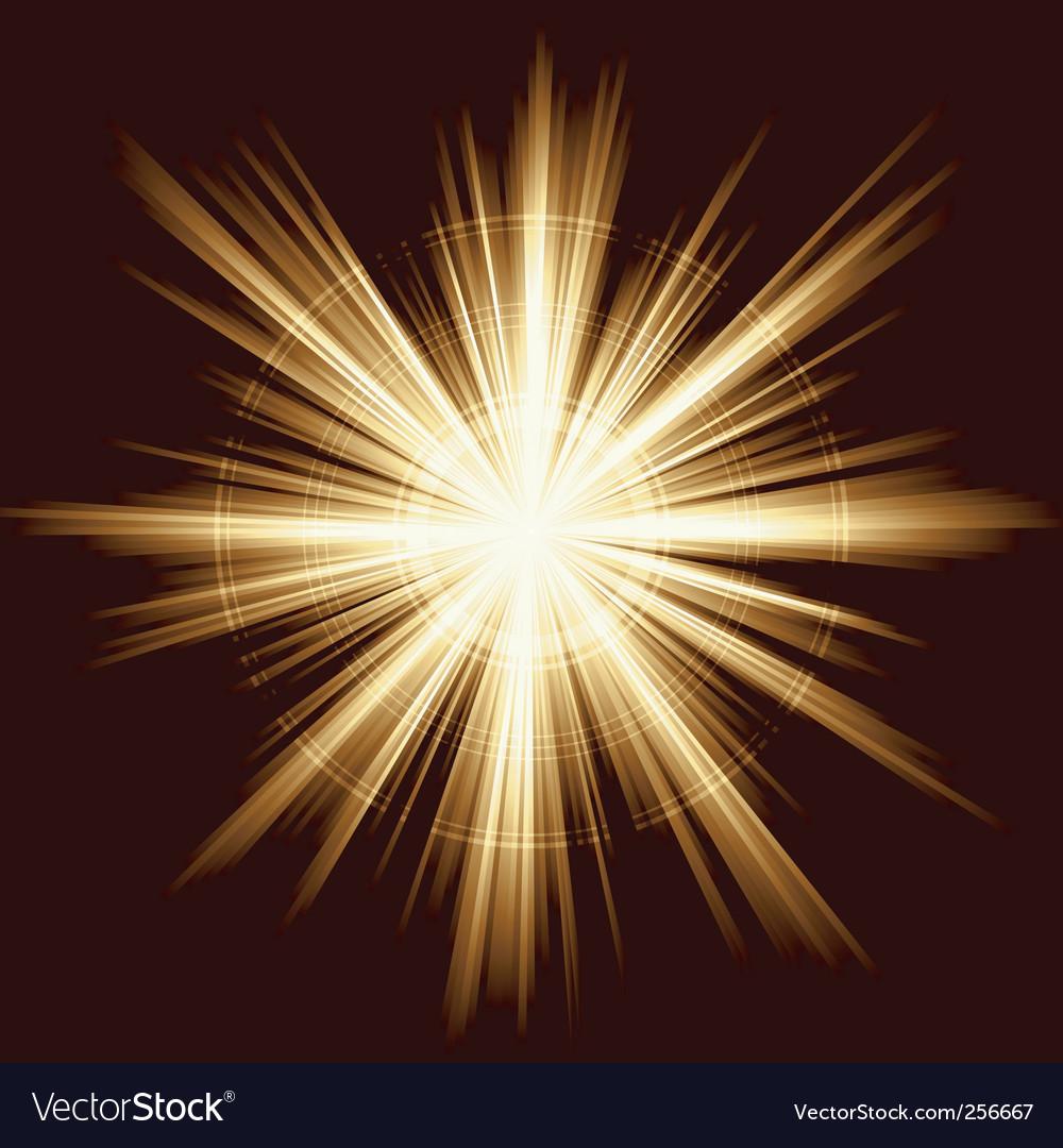 Light burst fireworks lens