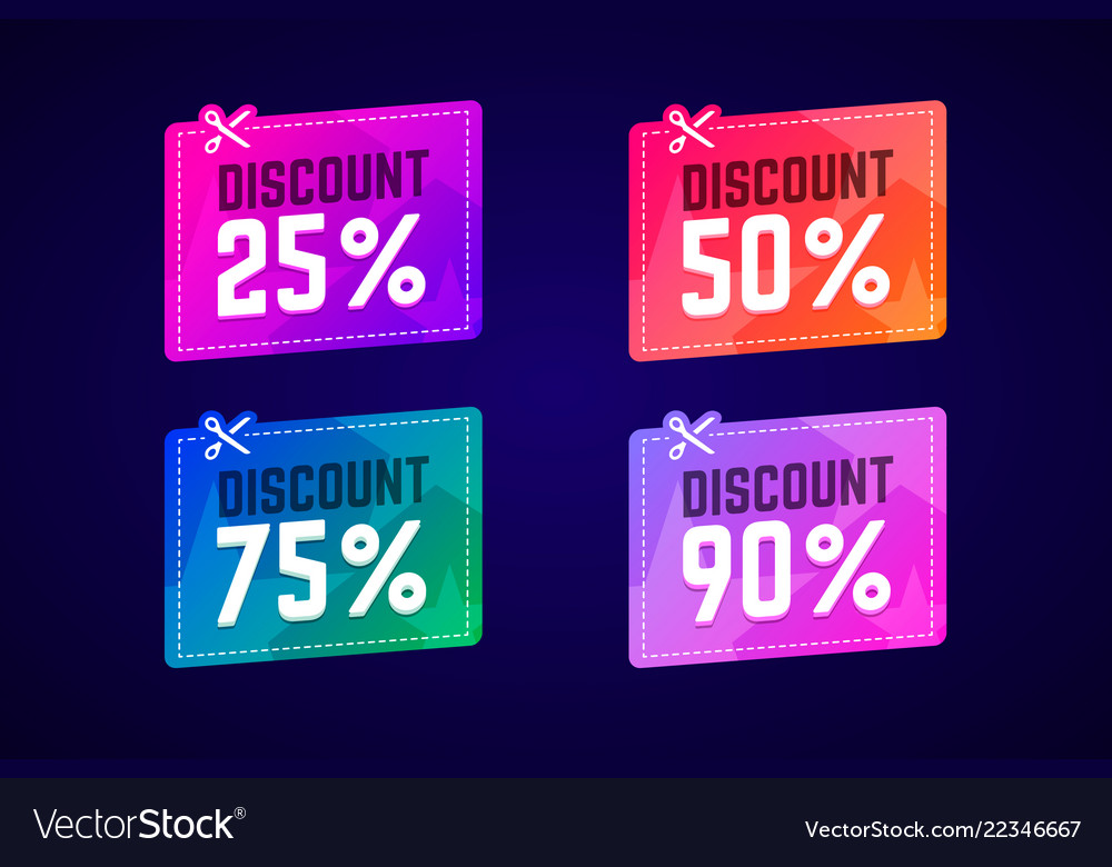 Sale coupons with scissors for shop