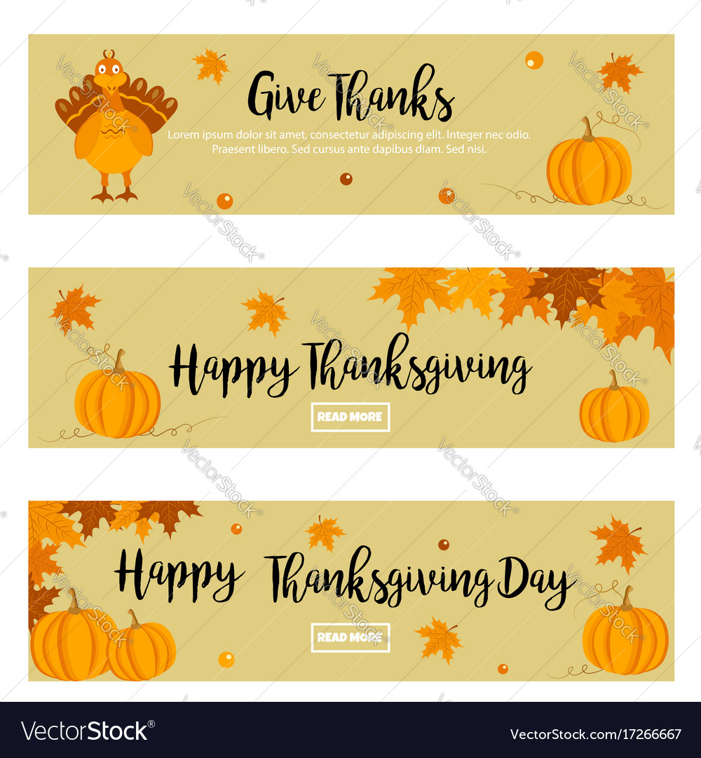 Free thanksgiving banner. Set of banners with