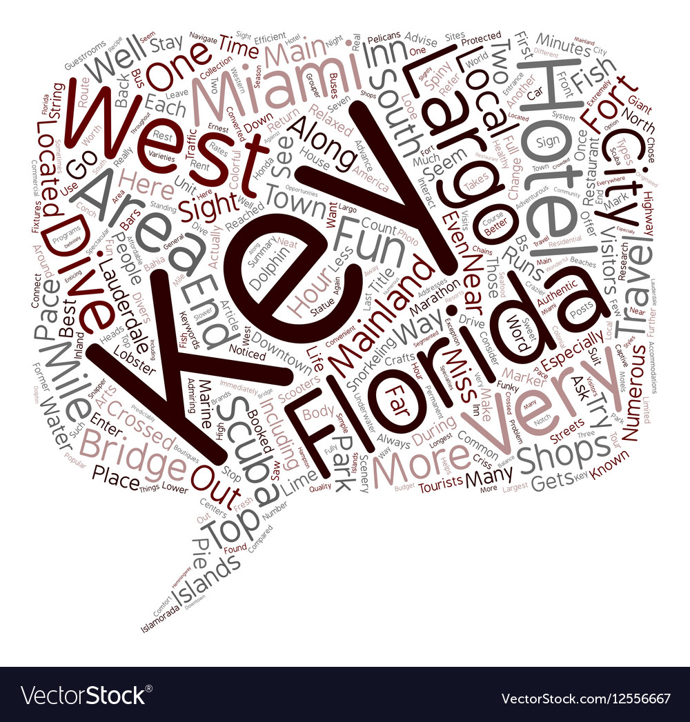 The Florida Keys text background wordcloud concept
