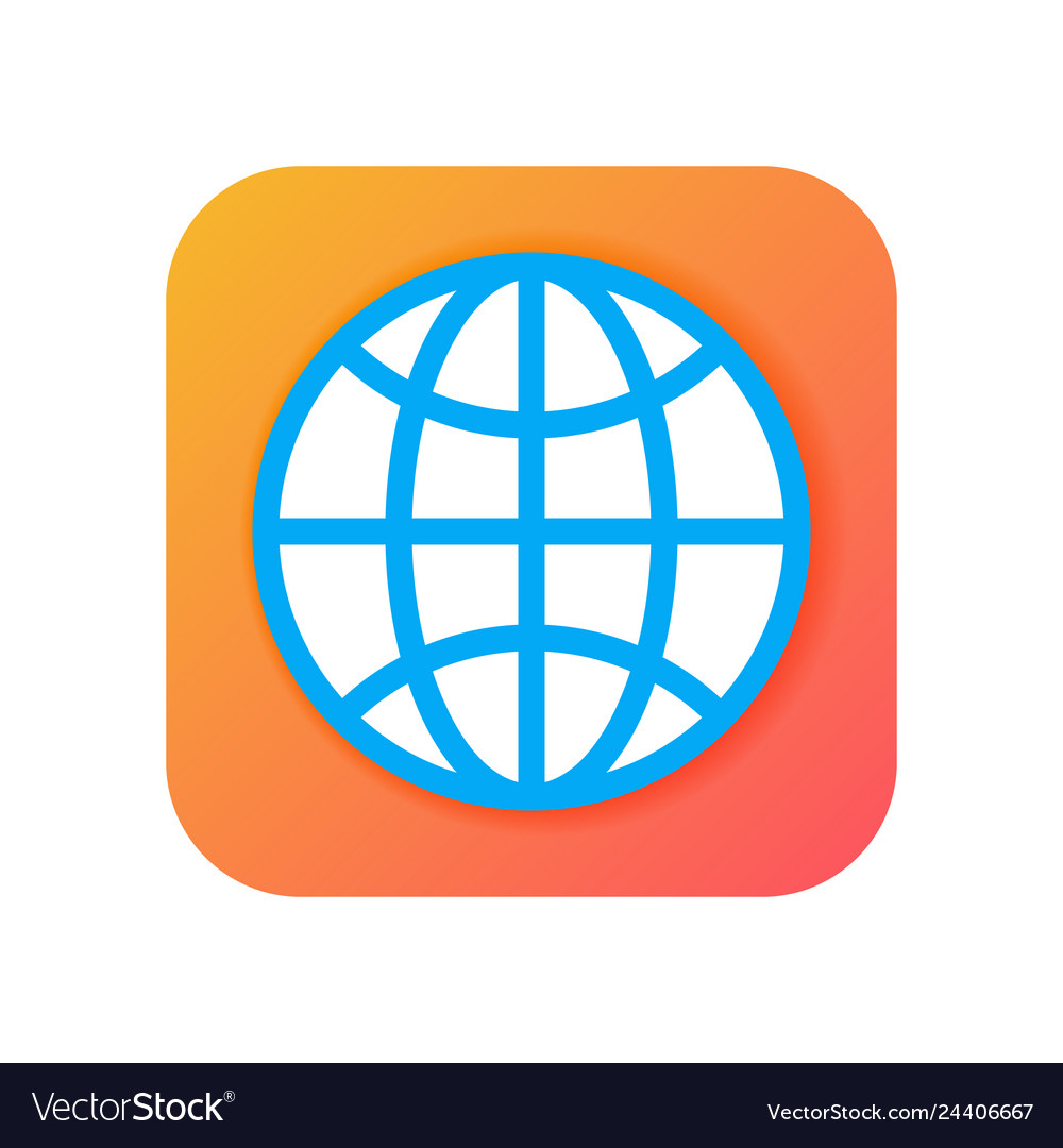 Worldwide globe browser icons modern icon in flat