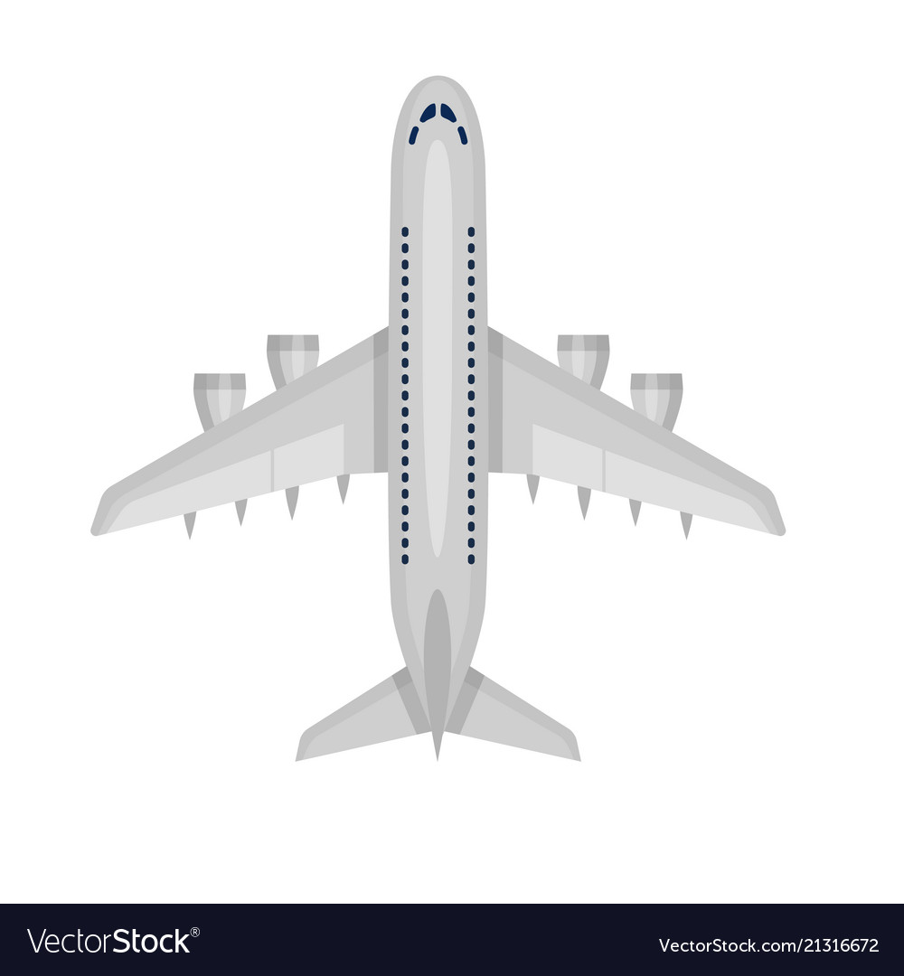 Airplane plane airliner icon isolated on white