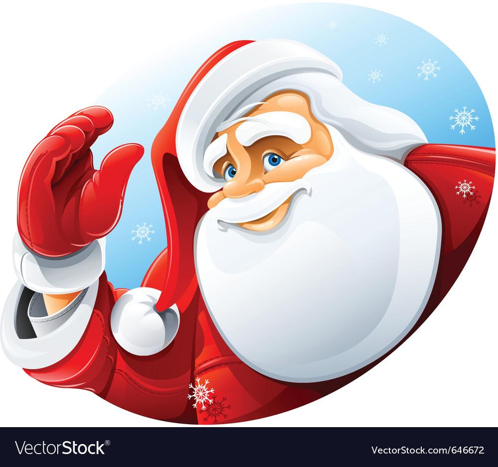 Happy santa claus face