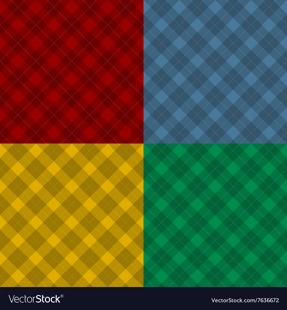 Lumberjack four color checkered diagonal square