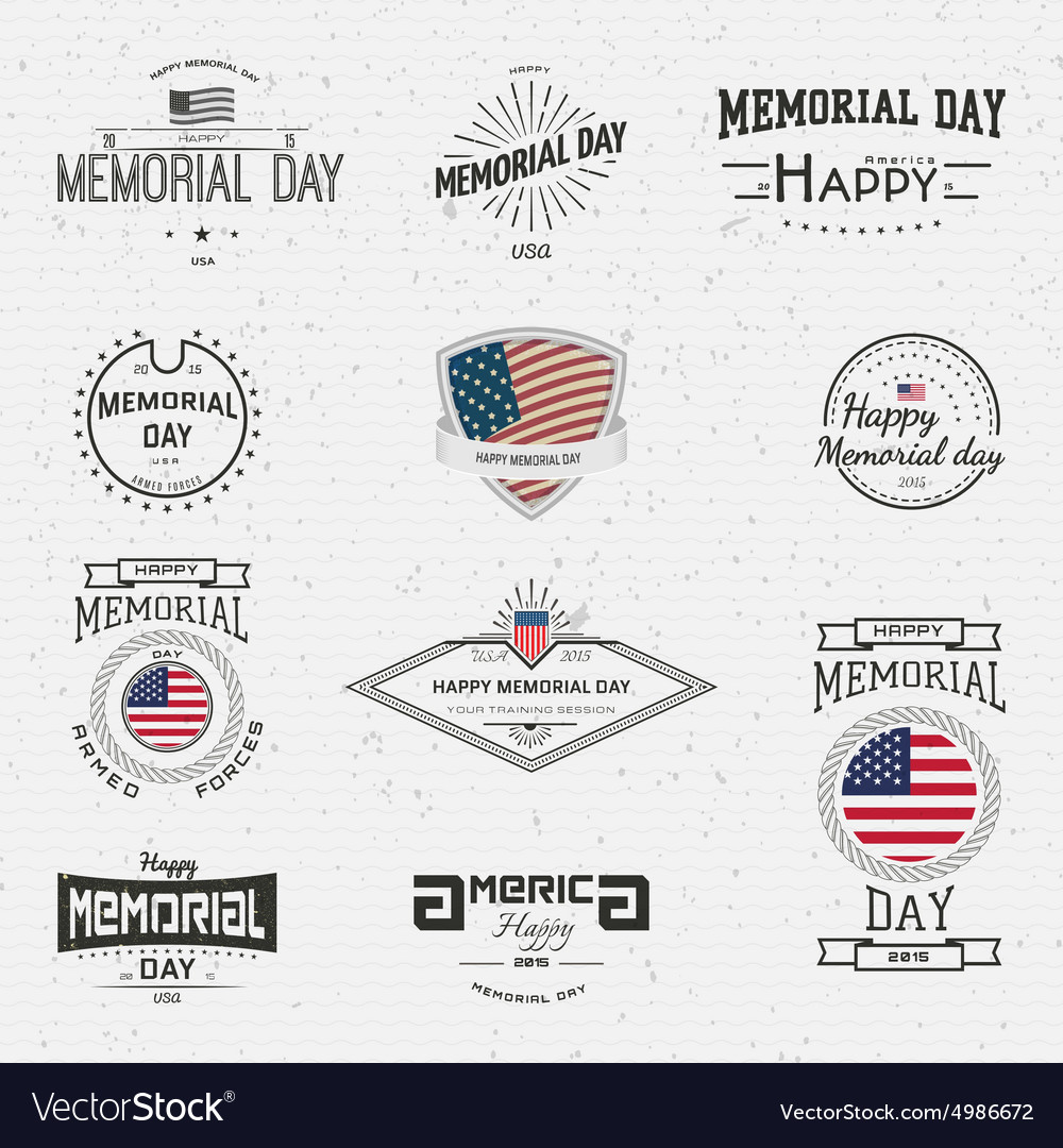 Memorial day badges logos and labels for any use