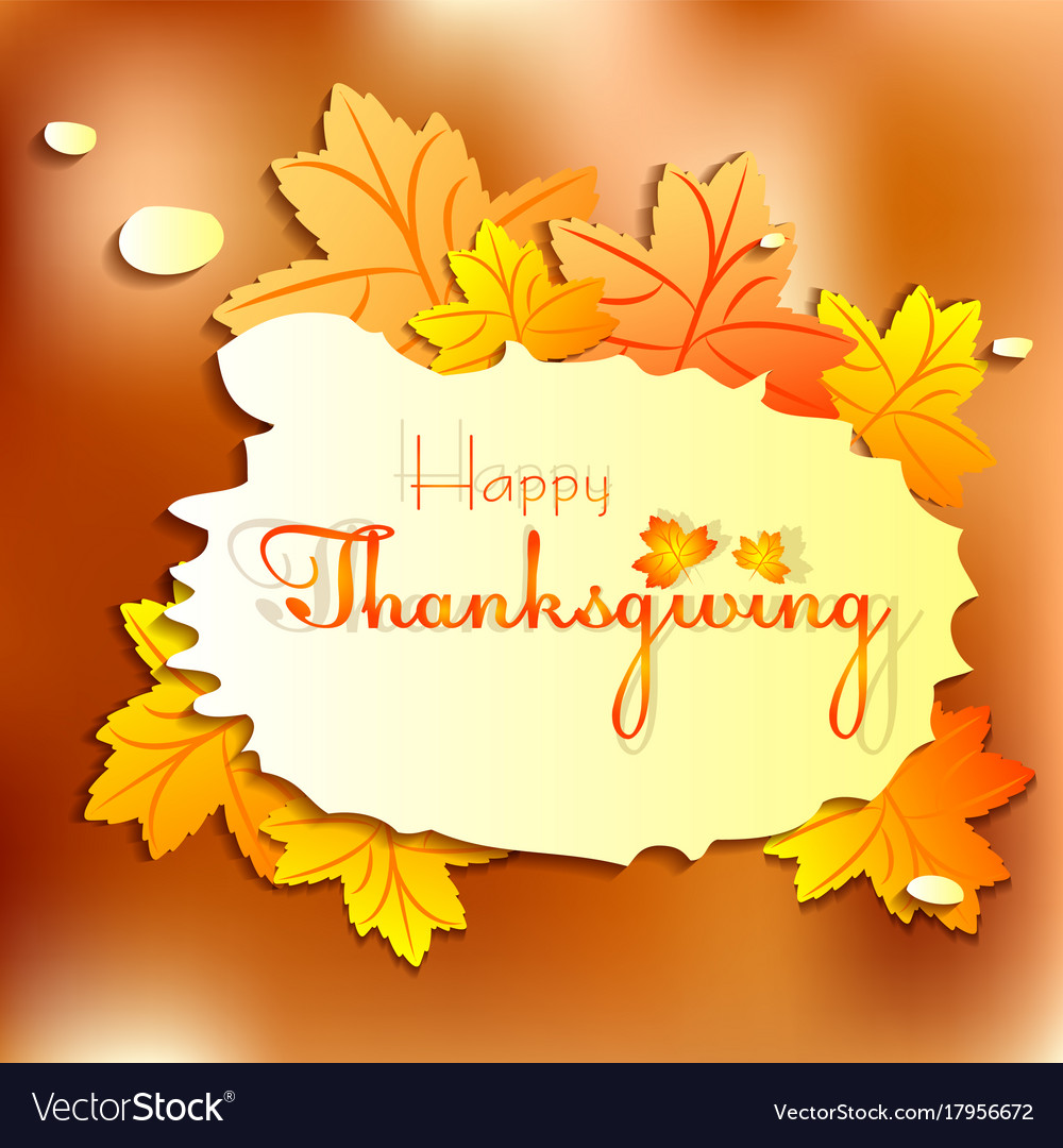Postcard for greeting with happy thanksgiving vector image m4hsunfo
