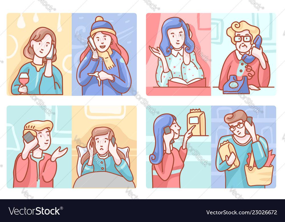 Telephone conversation set
