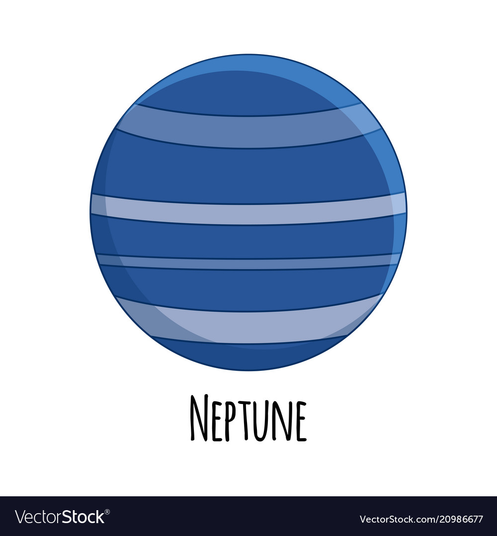 Cartoon neptune planet
