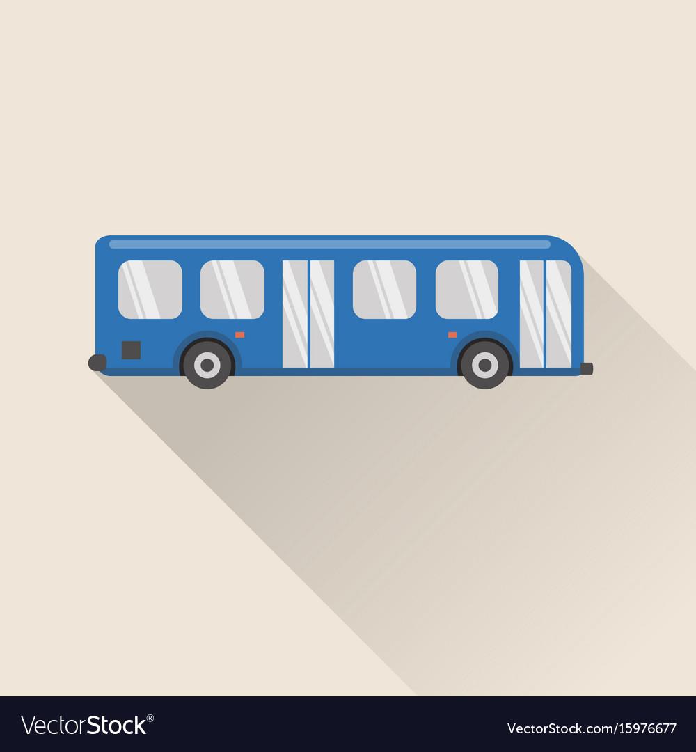 Flat style bus icon