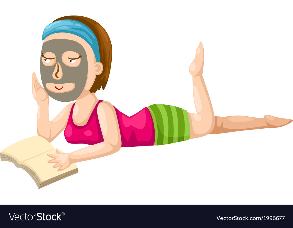 Girl and reading a book vector image