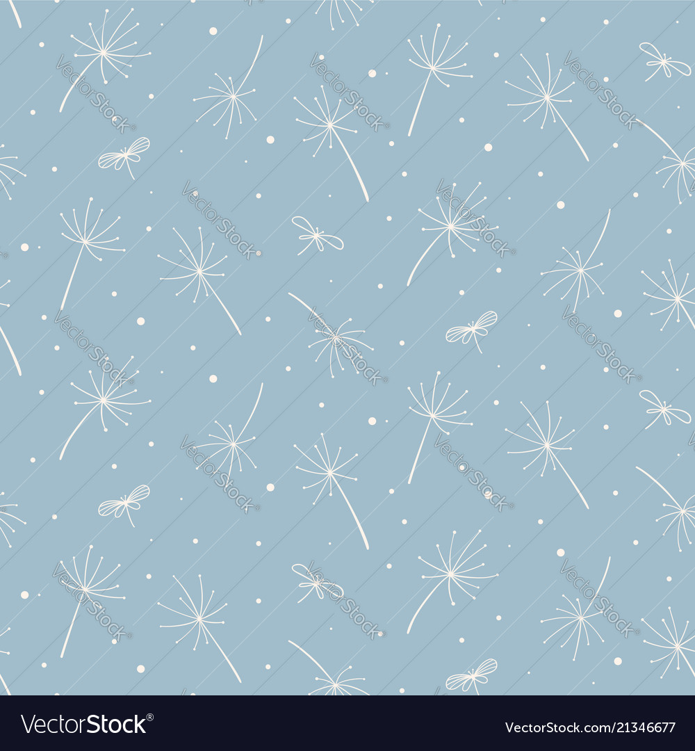Light blue modern seamless floral pattern good