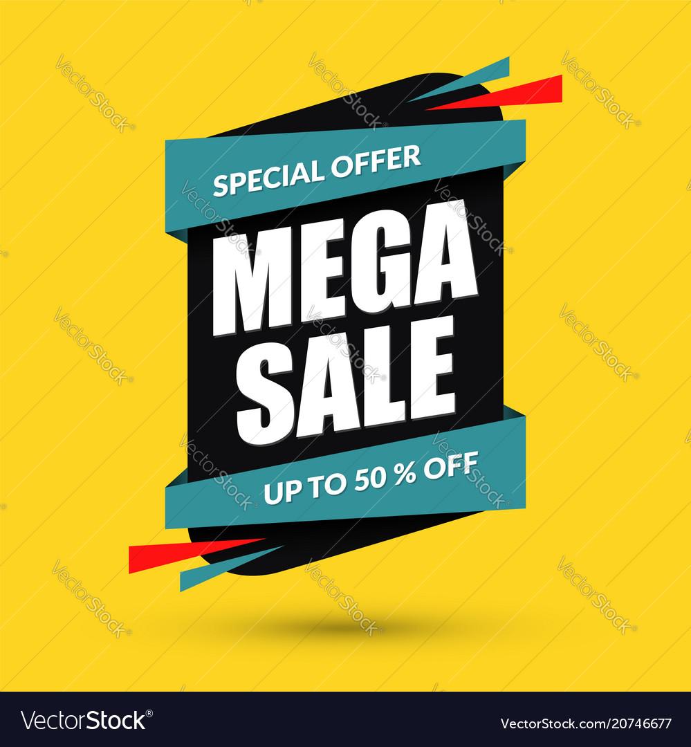 Mega sale design special offer concept discount
