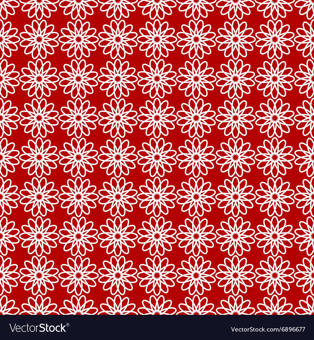 Seamless pattern with red and white colors vector image
