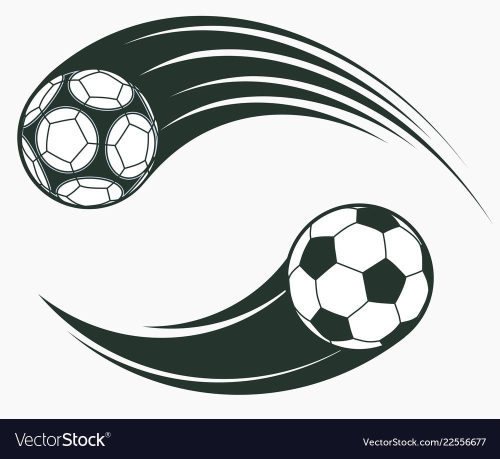Soccer football moving swoosh elements dynamic