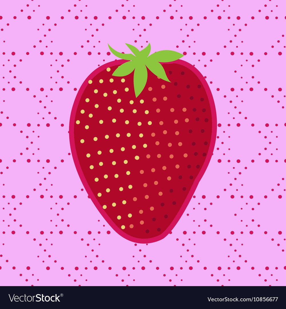 Strawberry Patch badge clip-art strawberry vector image