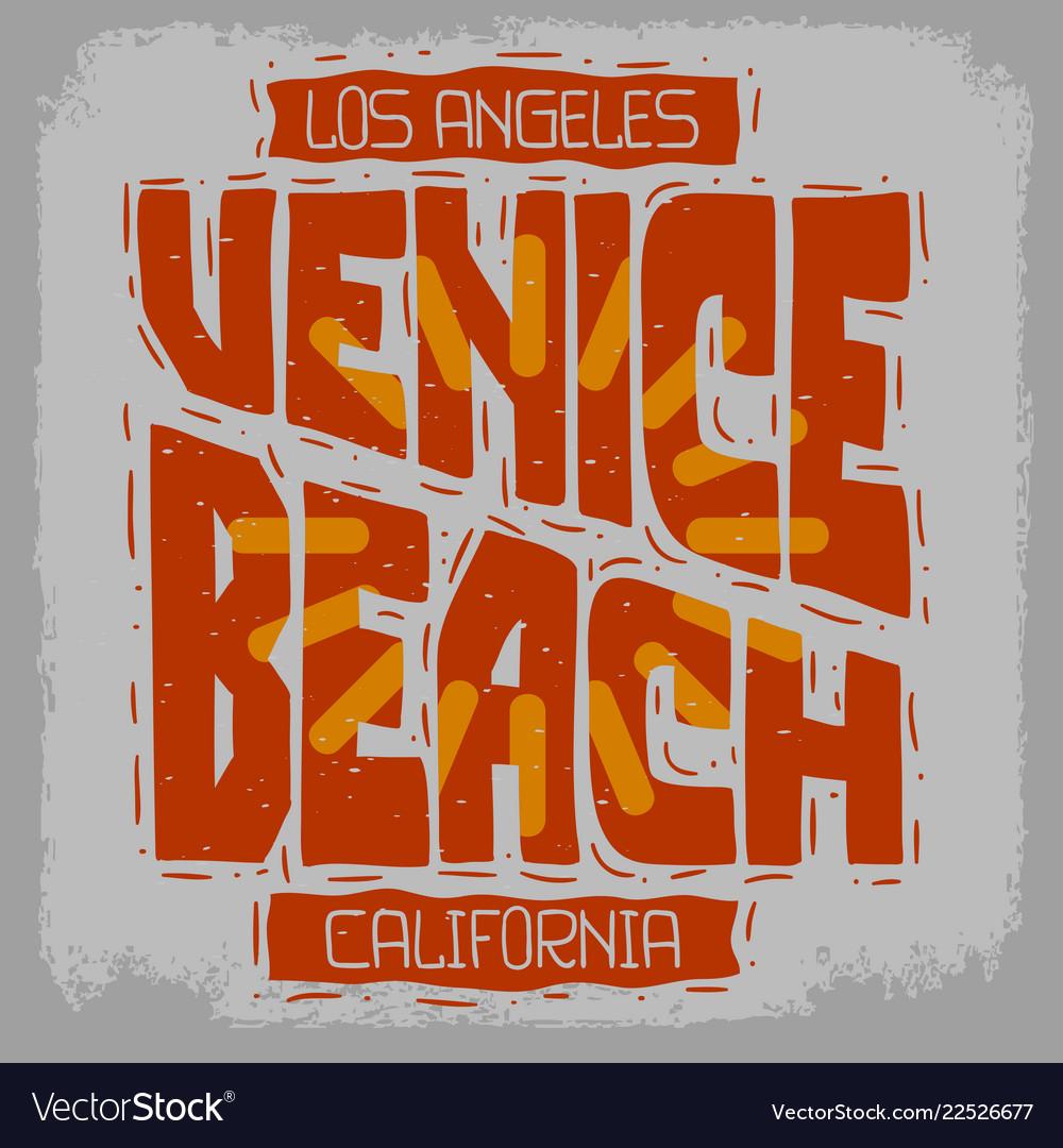 Venice beach los angeles california vintage