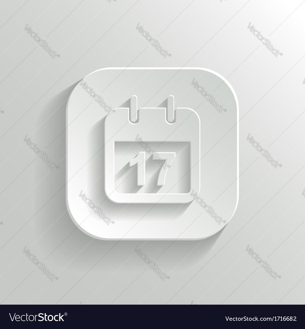 Calendar icon - white app button