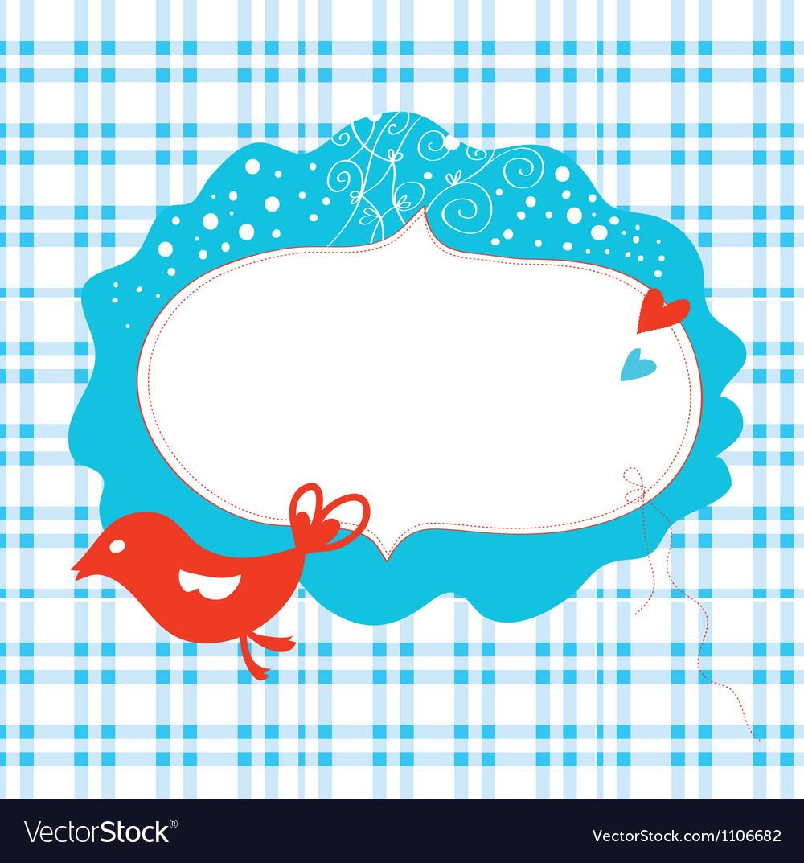 Christmas card with frame