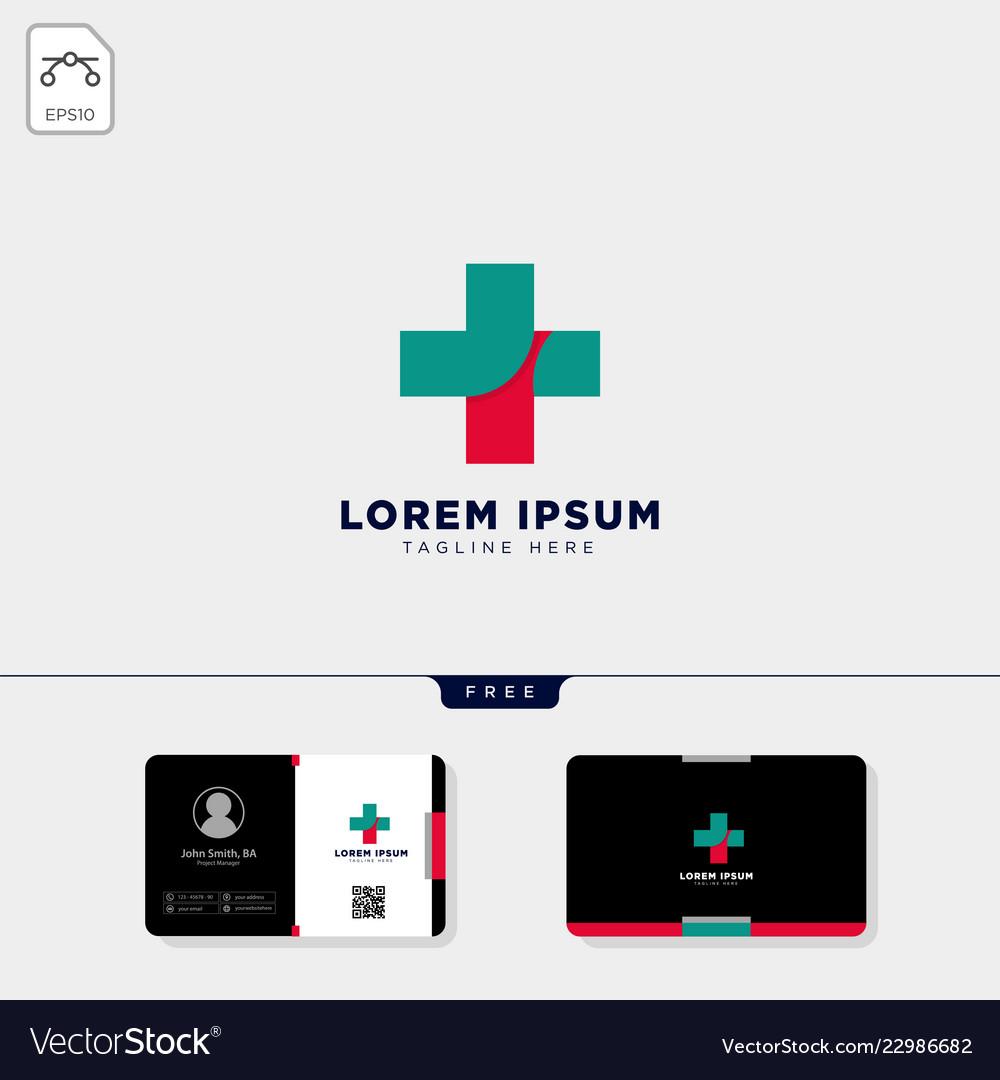 Cross medicine logo template and get free