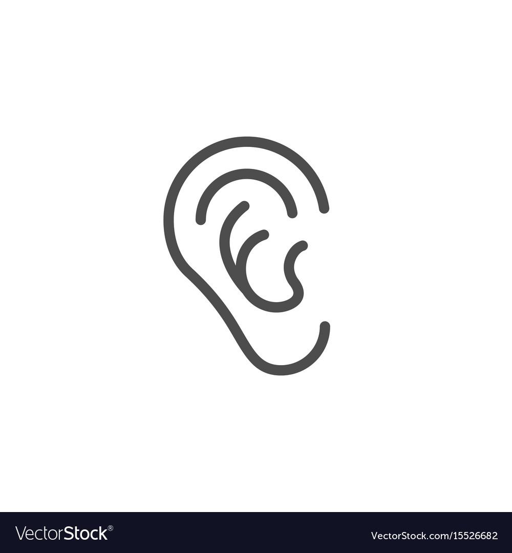 Ear line icon