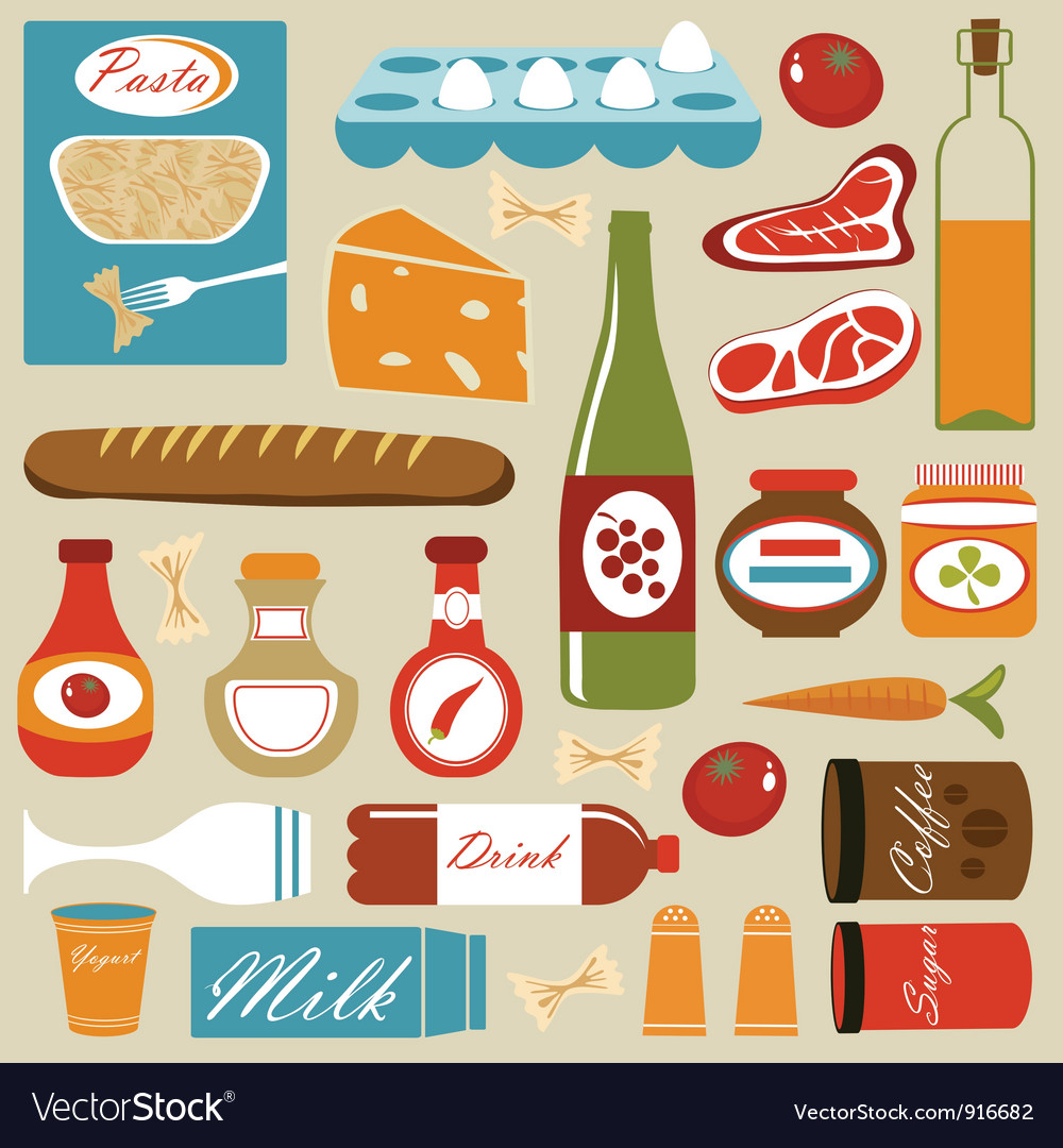 Food composition vector image