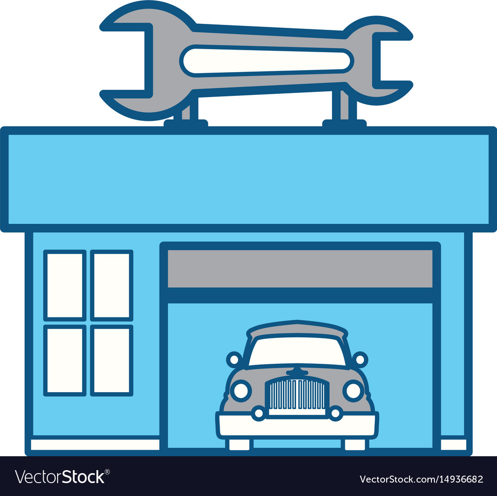 Garage Door Mechanic Royalty Free Vector Image