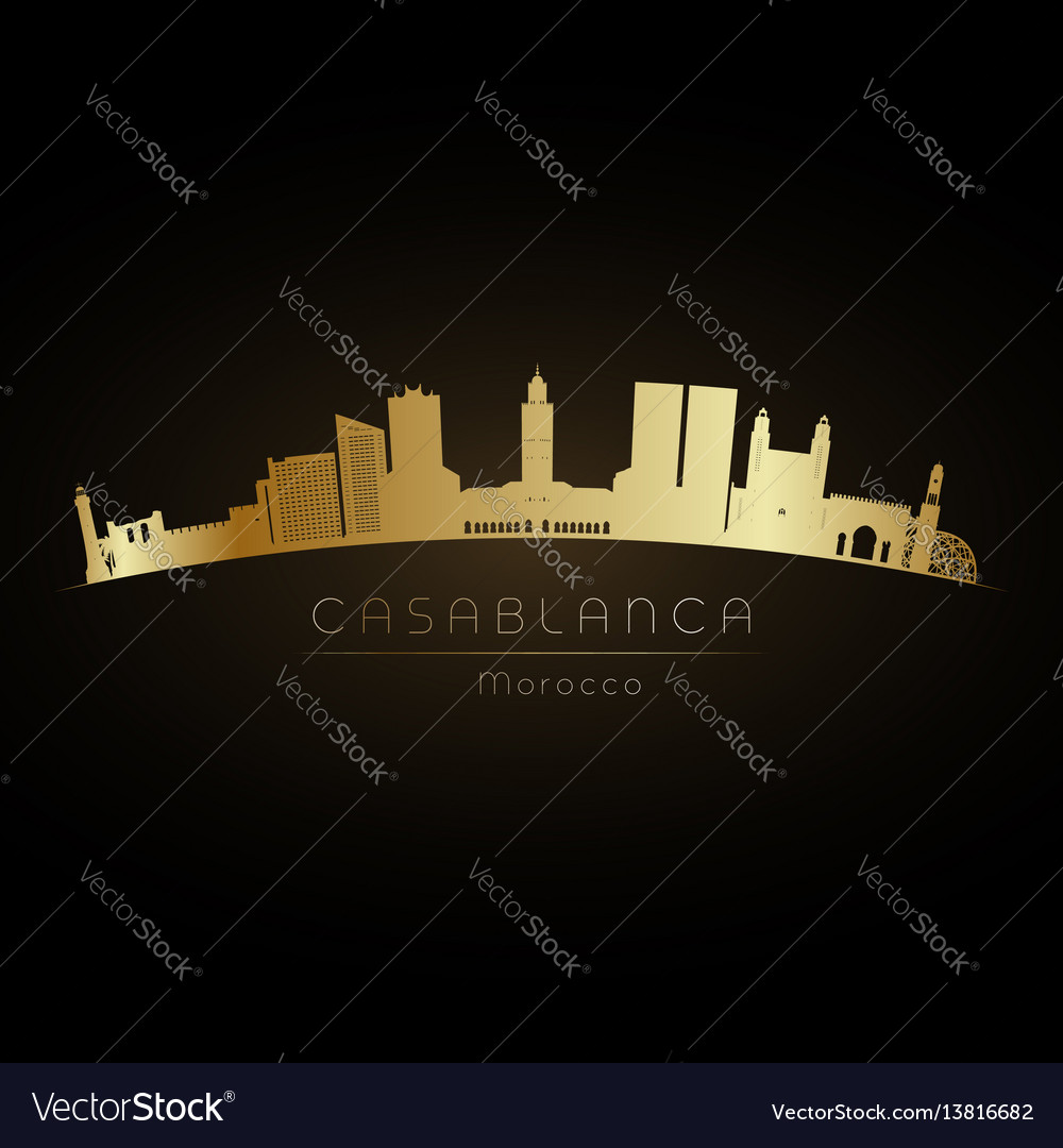 Golden logo casablanca vector image