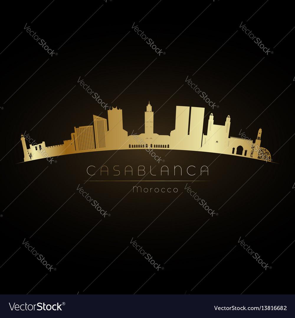 Golden logo casablanca