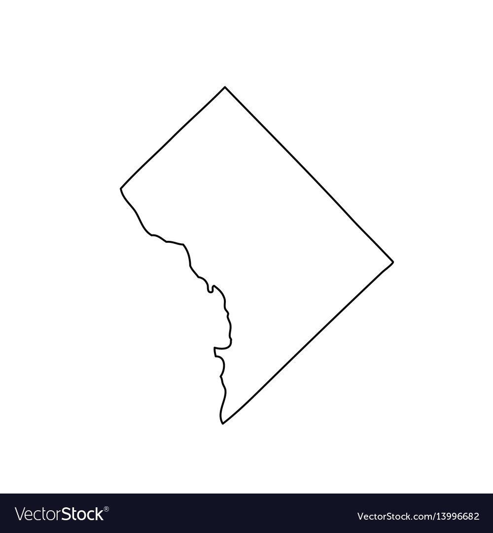 Map of the us district of columbia Royalty Free Vector Image