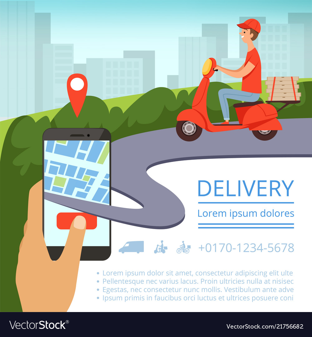 Order delivery online shipment tracking system