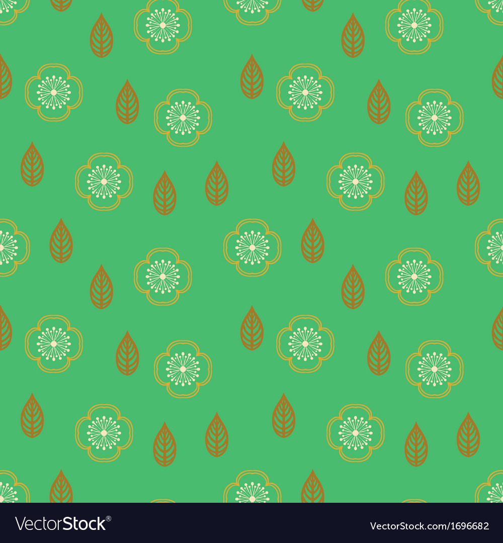 Pattern with stylized sakura flowers