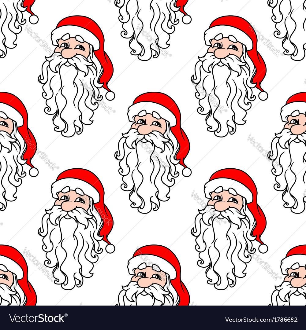 Santa Claus seamless pattern for christmas