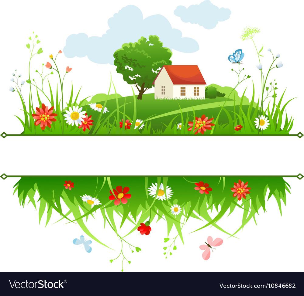 Summer day frame vector image