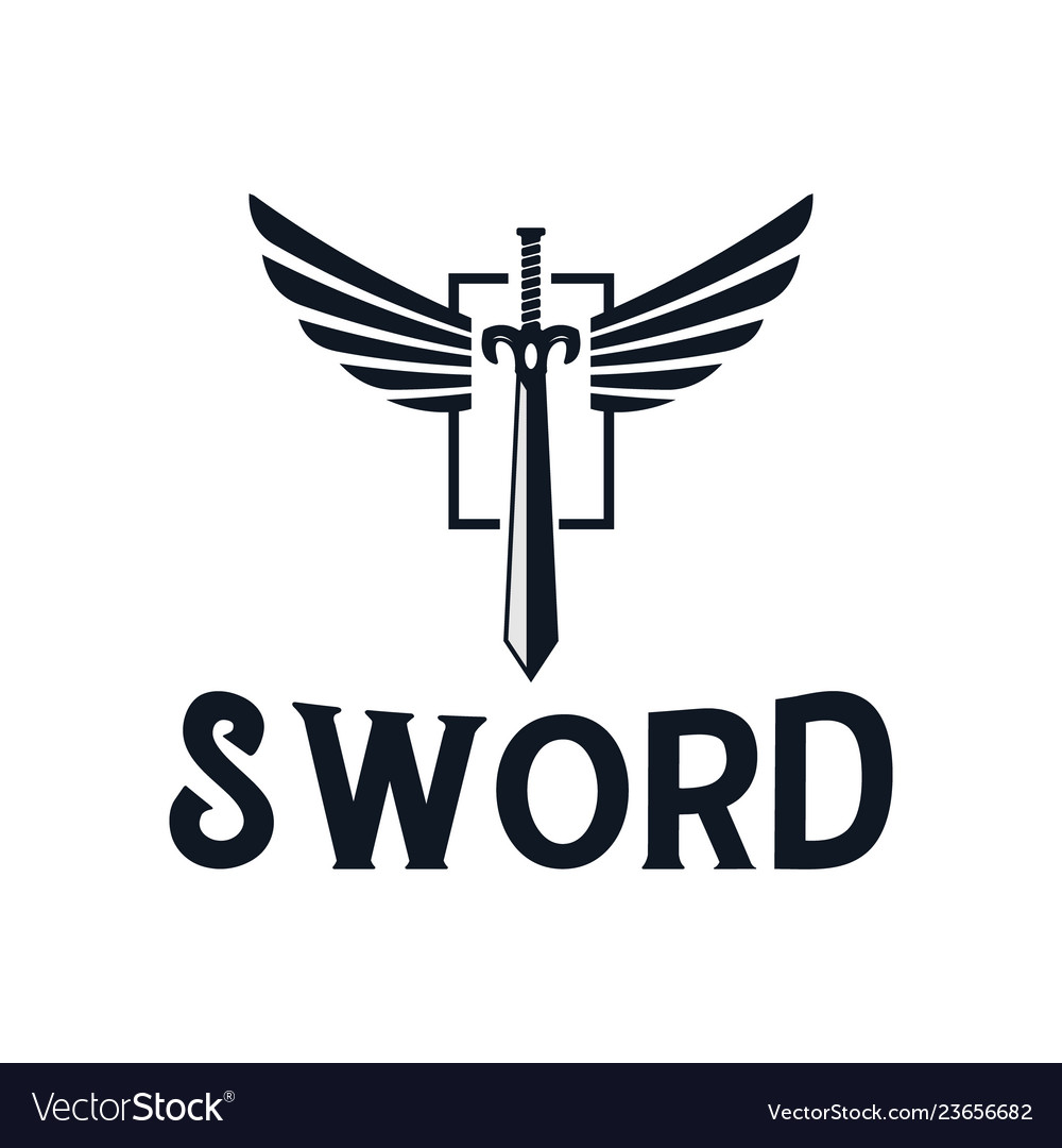 Sword and wings logo design inspiration