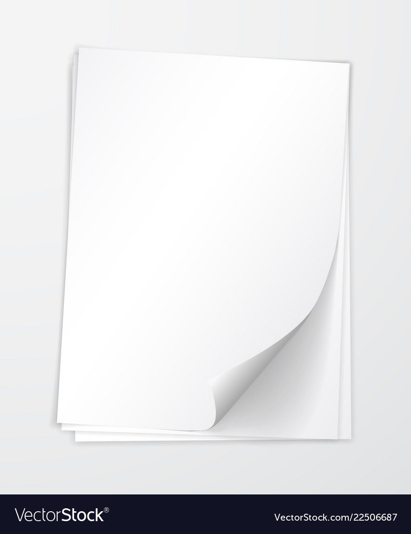 A4 paper with shadow design template
