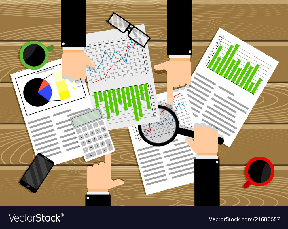Analysis data chart and diagram team work business