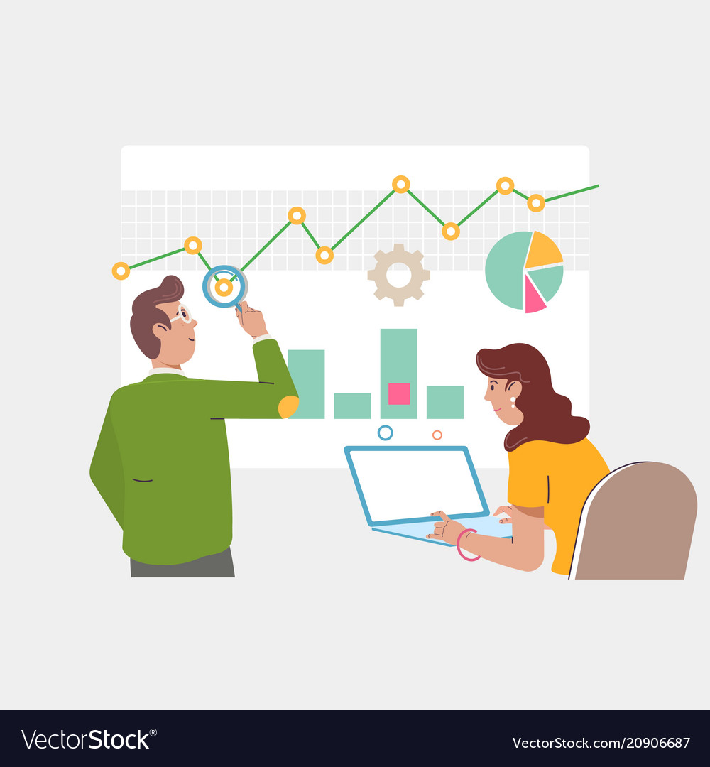 Audit and marketing concept auditor at table