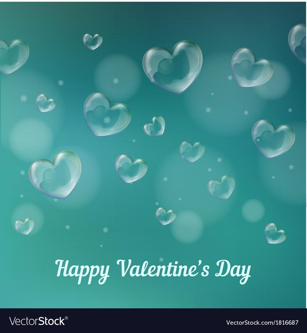 Happy valentines day Heart-shaped soap bubbles