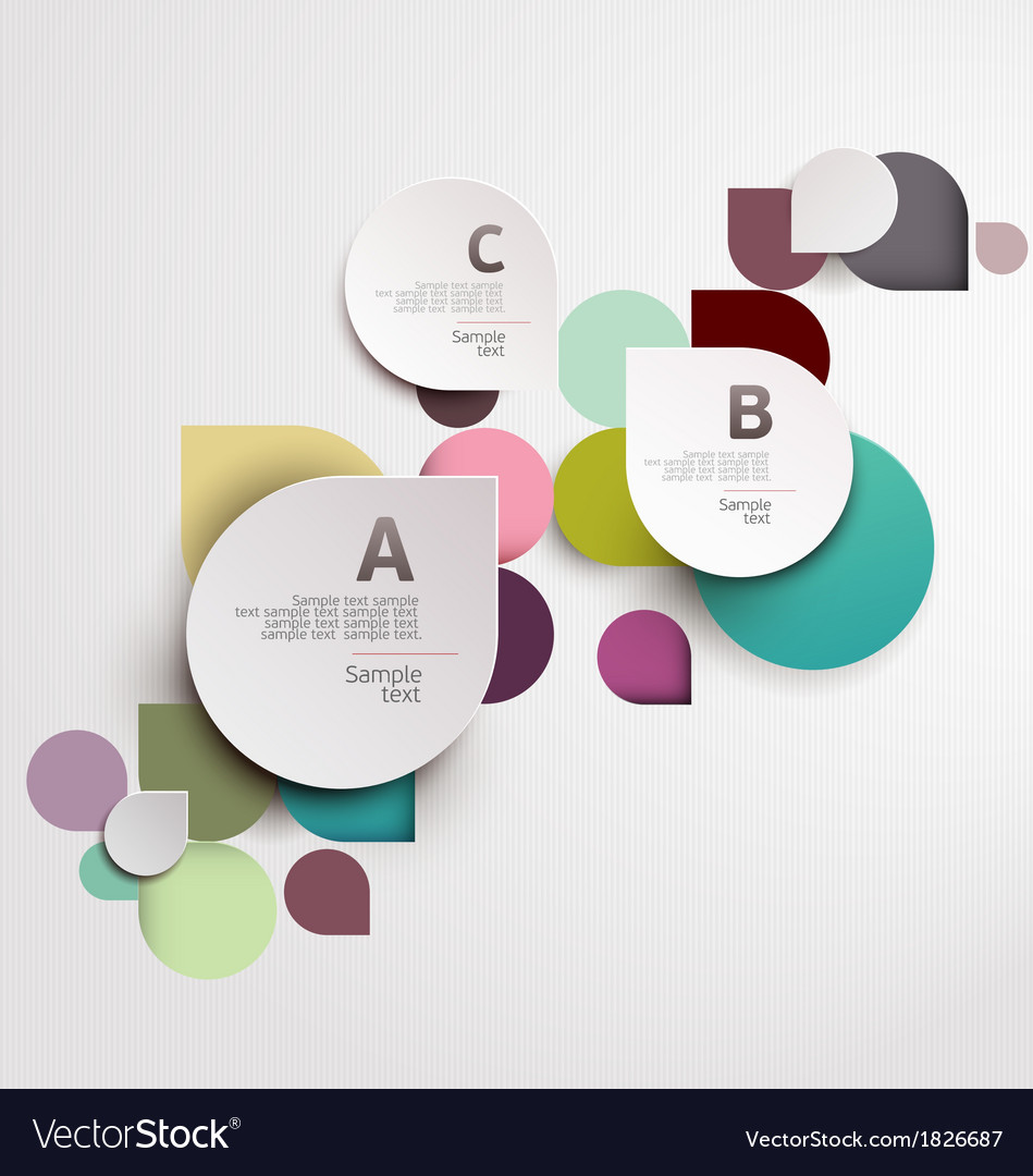 Modern origami background vector image