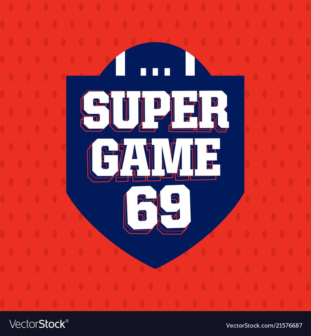 Modern professional american football logo for