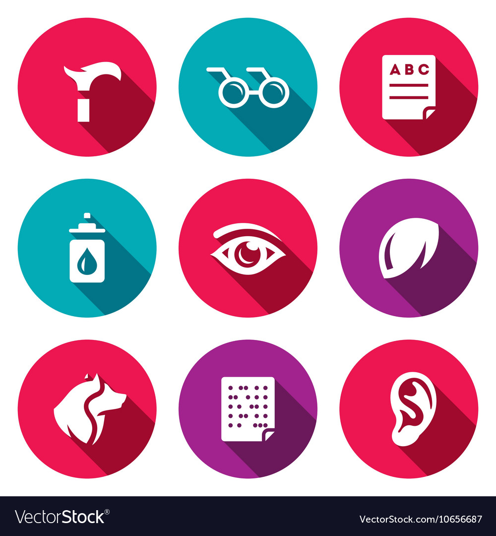Set Of Disability Icons Lameness Royalty Free Vector Image
