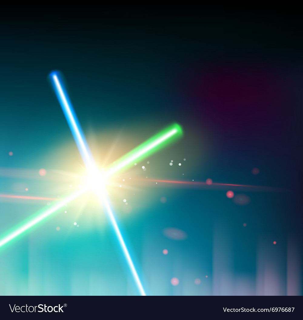 Two laser rays