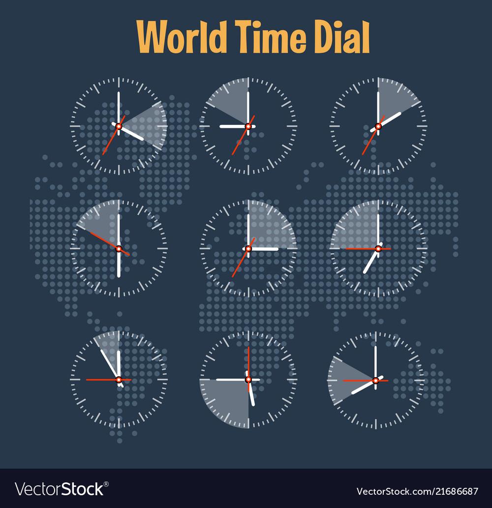World time infographics