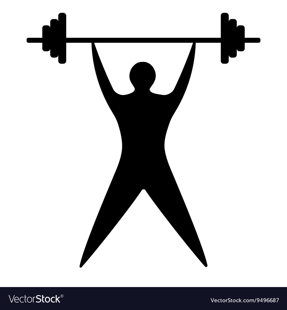 Young man athlete raises the bar silhouette vector image