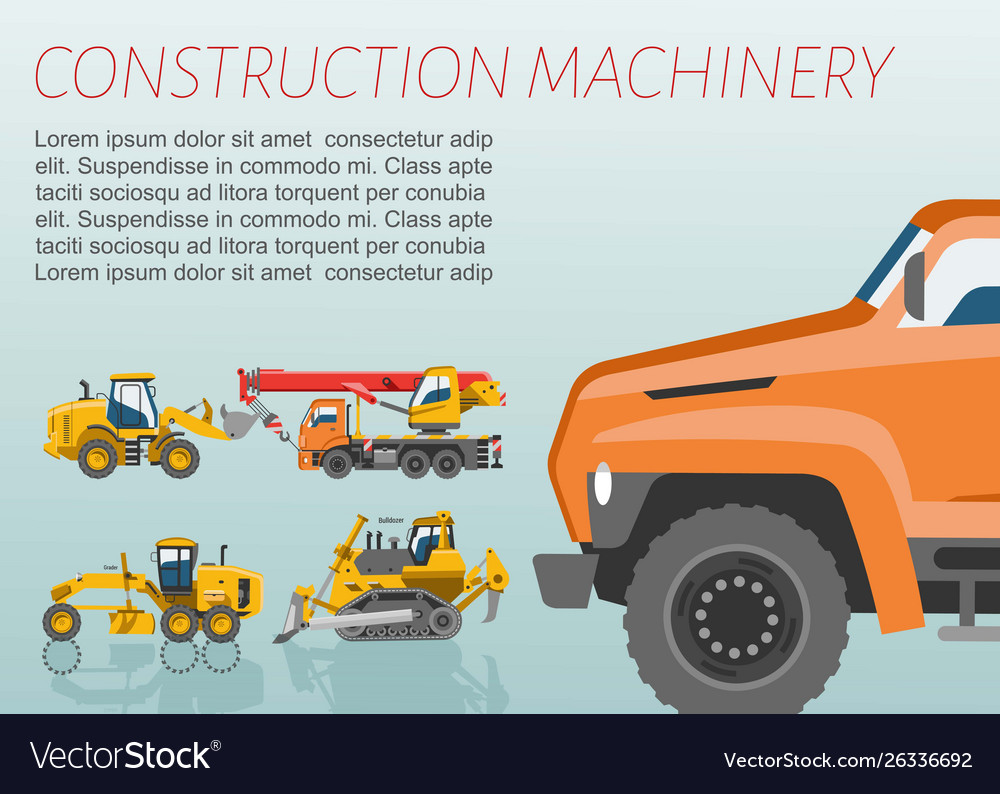Construction equipment and machinery poster