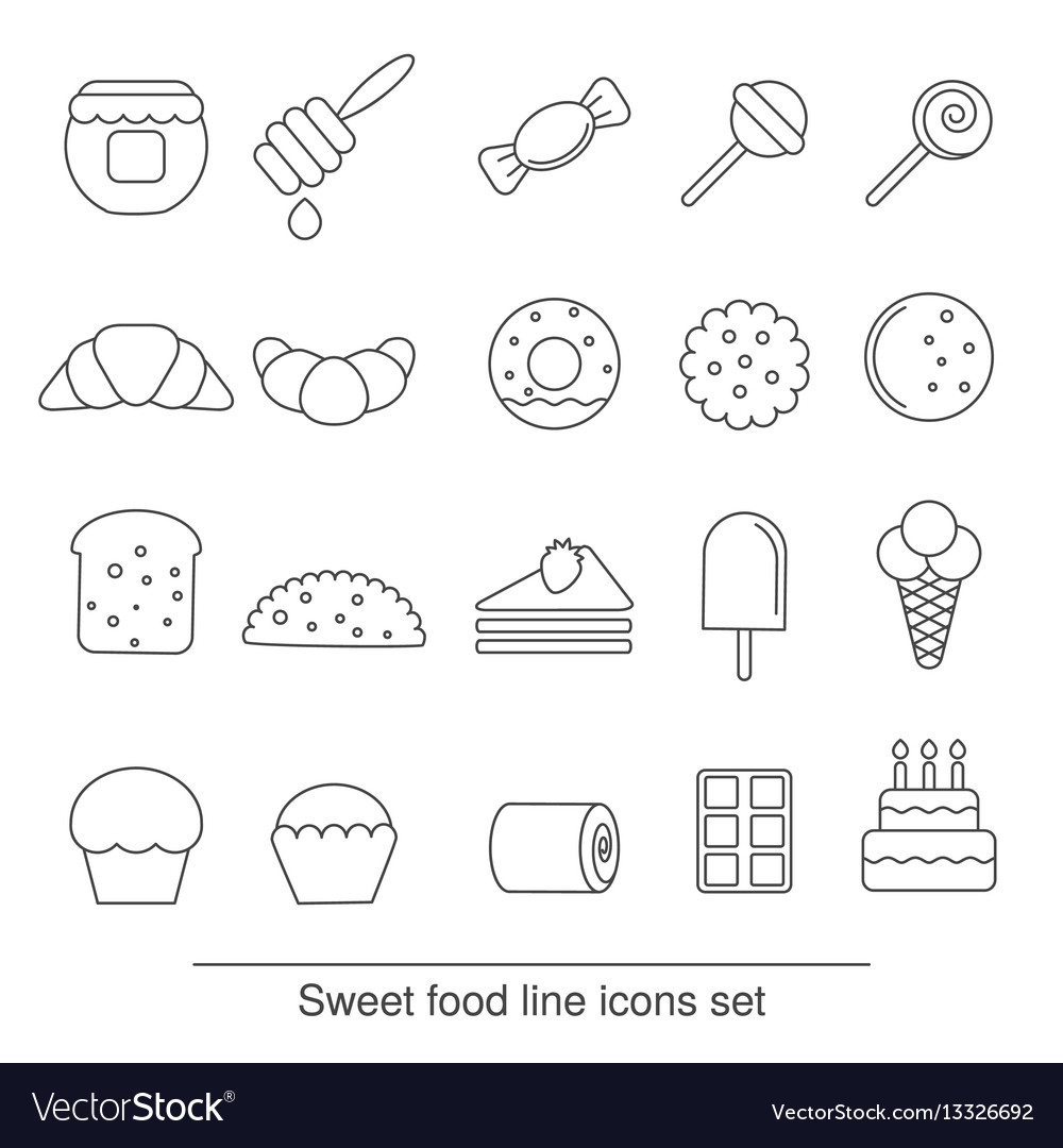 Dessert and sweet icon set dessert and sweet icon