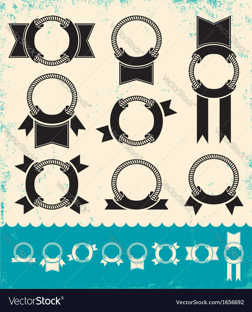 Marine banners vector image