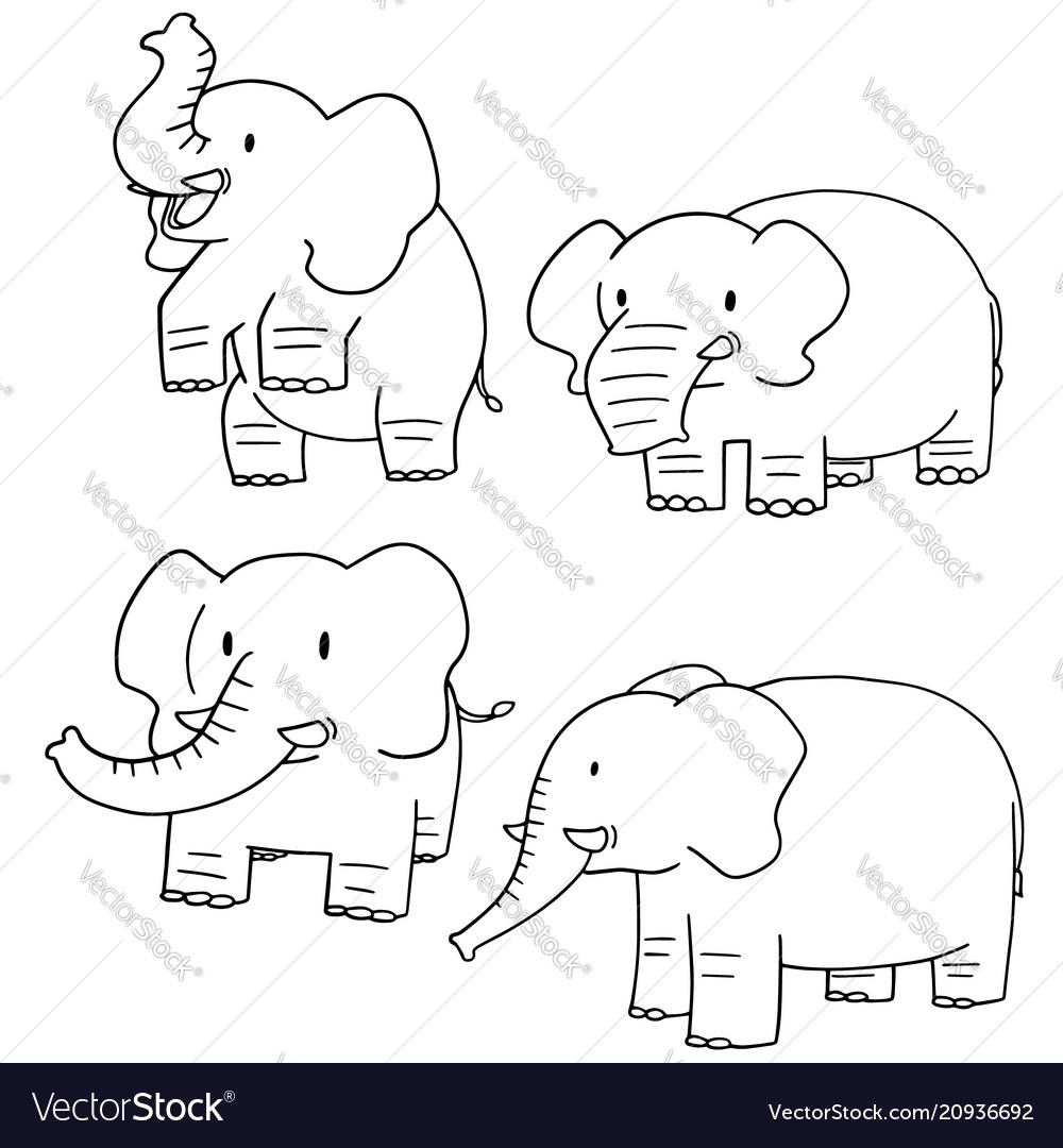 Set of elephant